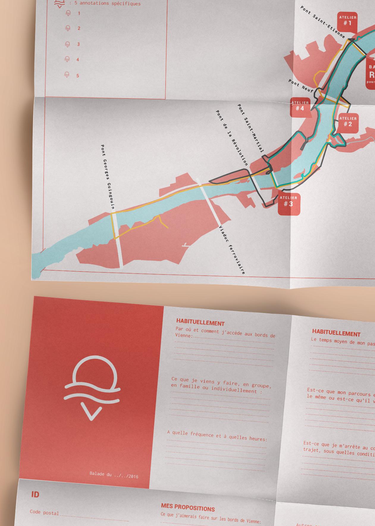 Vue rapprochée des cartes mises à disposition des participants aux ateliers et aux balades